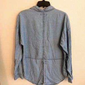 Old Navy Tops - Old Navy Tencel Boyfriend Slit-Back Chambray Shirt